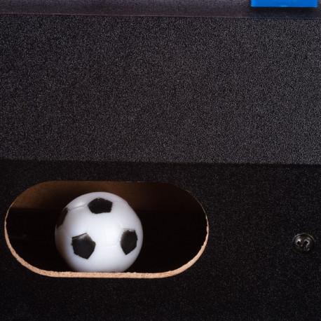 Stolní fotbal fotbálek černý MDF 121 x 101 x 79 cm