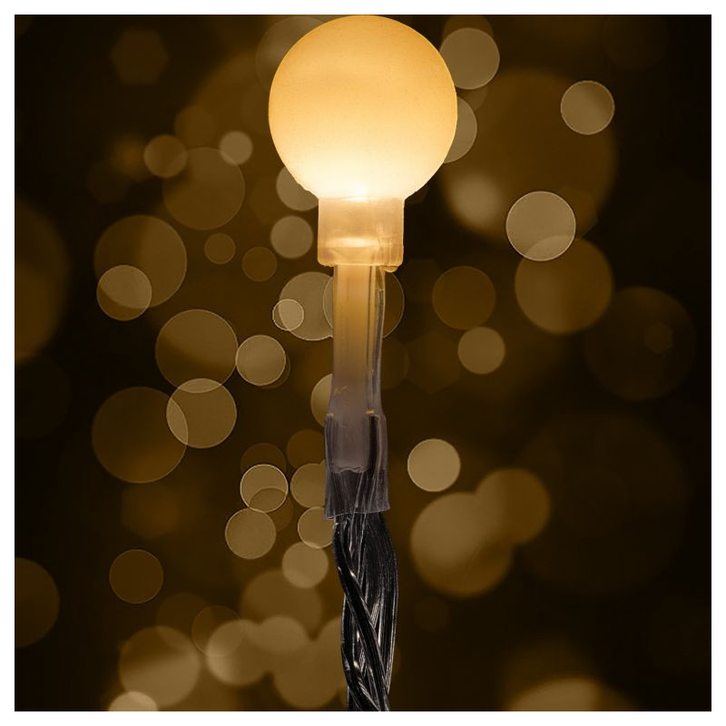 Vánoční dekorativní osvětlení - rampouchy - 40 LED studená bílá