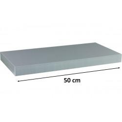 Nástěnný skleněný regál SLIM čirý